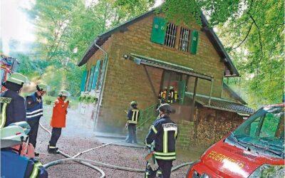 An der Krummelshütte übte die Feuerwehr St. Ingbert den Ernstfall